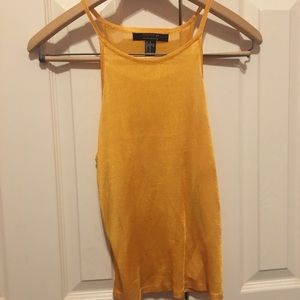 FOREVER 21  Gold Tank Top NEW CONDITION